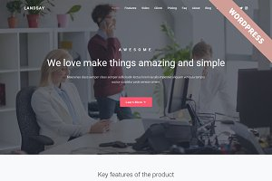 Landsay - WordPress Landing Theme