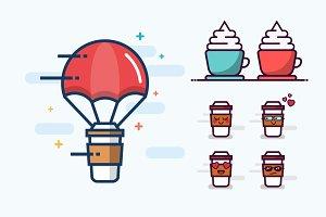 Set of Coffee Graphics