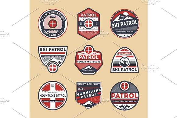 Sky Patrol Isolated Label Set