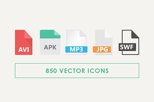 170 File Type Vector Icons