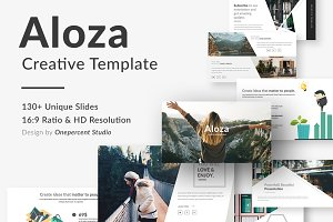 Aloza Creative Keynote Template