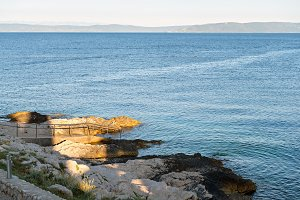 Rocky beach in Istria