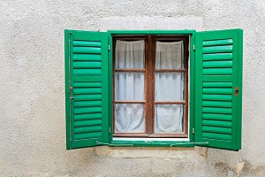 Typical window in a house in Europe