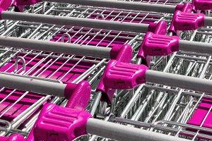 Pink shopping cart pattern