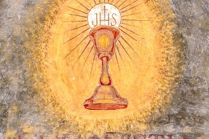 First communion chalice symbol