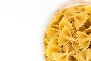Farfalle bows italian pasta