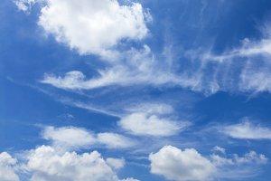 Basic blue sky background