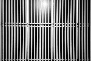 Horizontal black and white metal panels texture background
