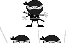 Flat Design Ninja Collection - 2