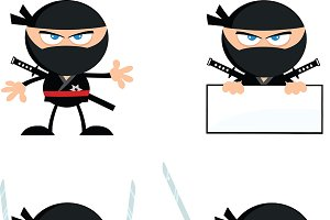 Flat Design Ninja Collection - 3