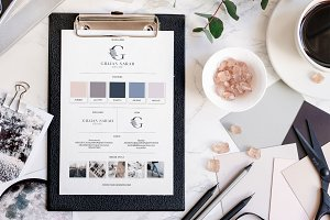 Branding Board Template Mood Board