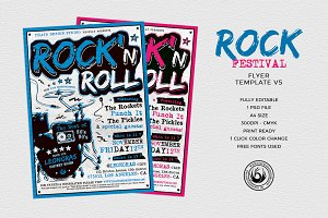 Rock Festival Flyer Template V5
