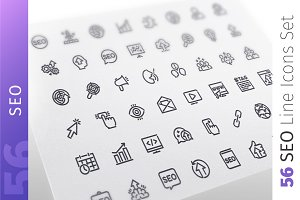 SEO Line Icons Set