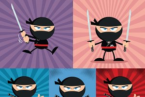 Flat Design Ninja Collection - 8
