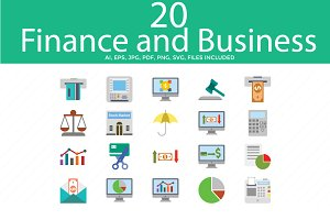 Business and Finance Color Vectors
