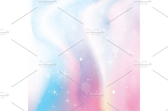 Unicorn Holographic Color Gradient