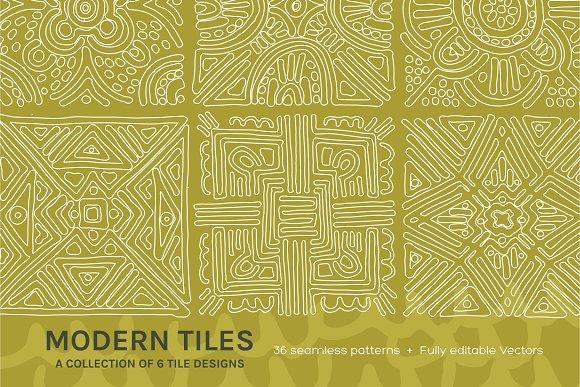 Full Modern Tile Seamless Patterns