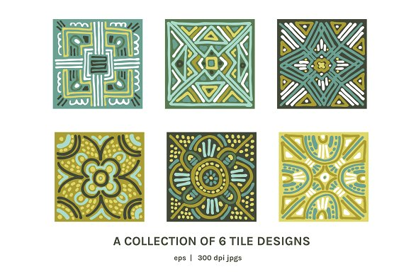 Full Modern Tile | Seamless Patterns in Patterns - product preview 3