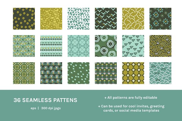 Full Modern Tile | Seamless Patterns in Patterns - product preview 4