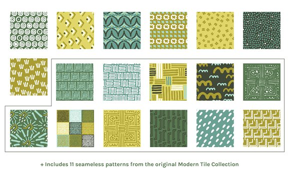 Full Modern Tile | Seamless Patterns in Patterns - product preview 5