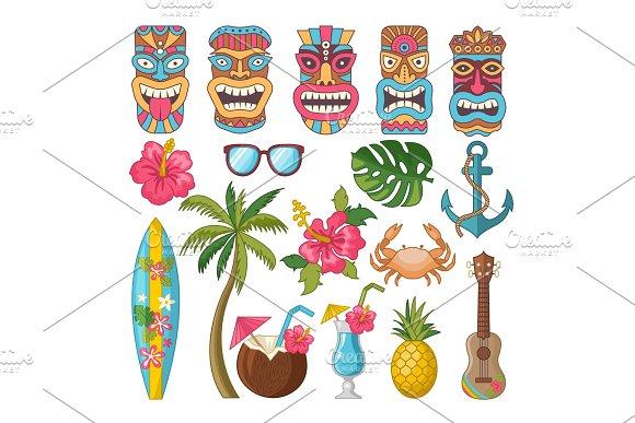 Tribal Symbols Of Hawaiian And African Culture
