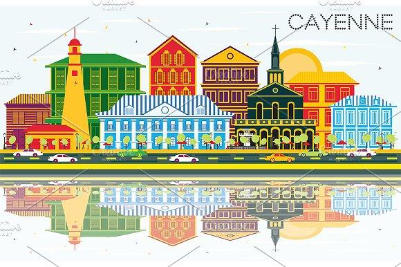 Cayenne City Skyline