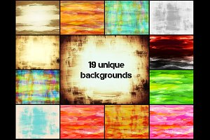 19 hand painted backgrounds