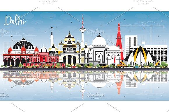 Delhi India City Skyline