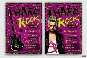 Hard Rock Flyer Template V2