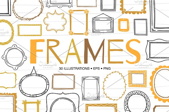 30 Hand Drawn Frames