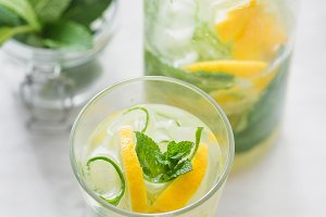 Glass of detox water