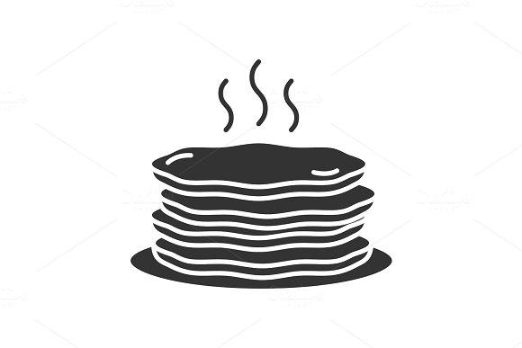 Pancakes Stack Glyph Icon