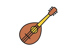 Mandolin color icon