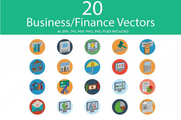 Business And Finance Flat Isometric