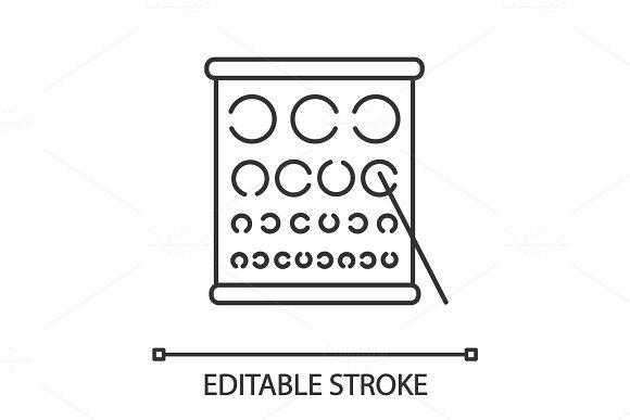 Eye Exam Chart Linear Icon