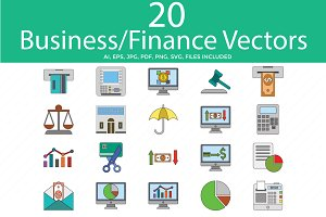 Business and Finance Color Vector i