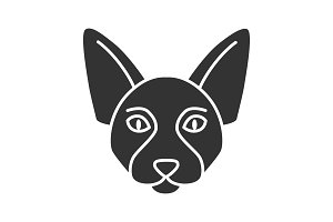 Canadian Sphynx glyph icon