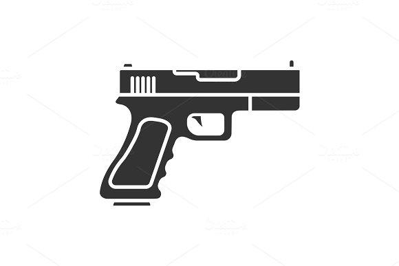 Gun Pistol Glyph Icon
