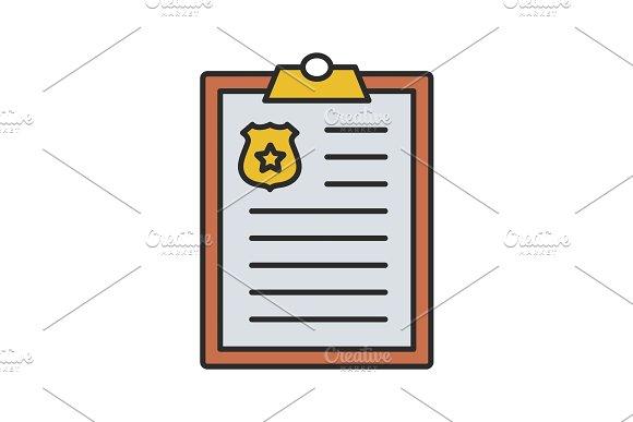 Police Report Color Icon