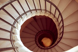 Spiral staircase view