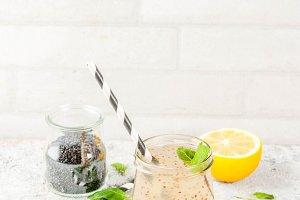 Chia fresca or lemonade