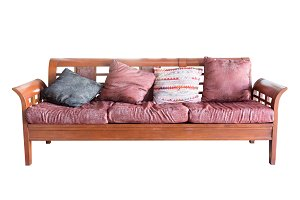 sofa and pillows furniture