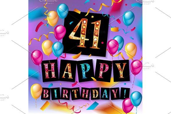41 Years Birthday Celebration