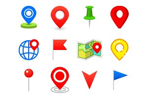 Geo pin as logo. Geolocation and navigation. Icon for map, mobile or devices. gps for web design, button for infographic elements. travel to destination.