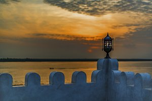 Terrace view at dawn, Lamu Island