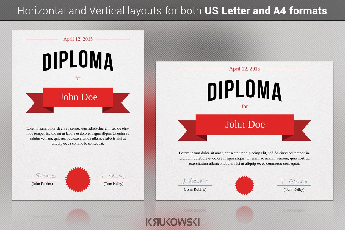 Abstract certificates stationery templates creative market diploma certificate template yelopaper Image collections