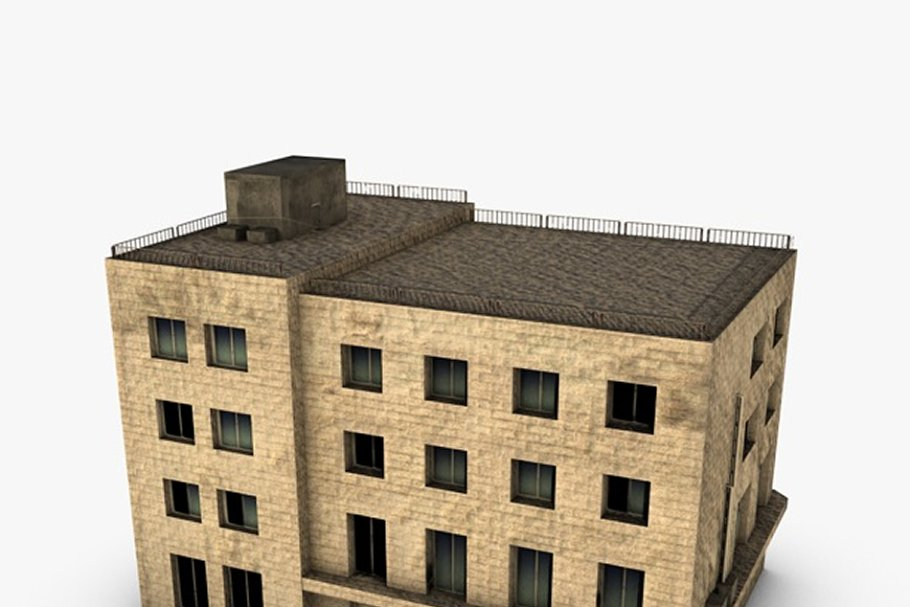 Low poly building in Urban - product preview 1