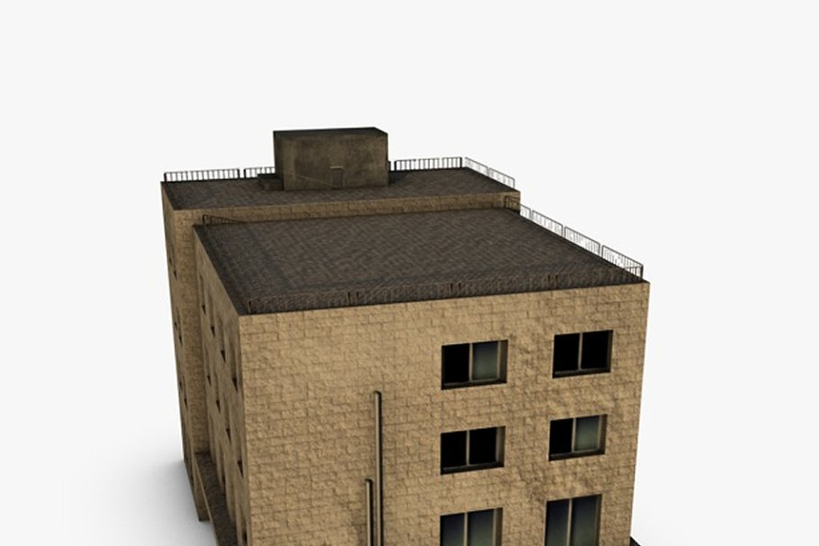 Low poly building in Urban - product preview 2
