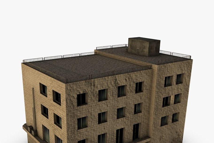 Low poly building in Urban - product preview 3