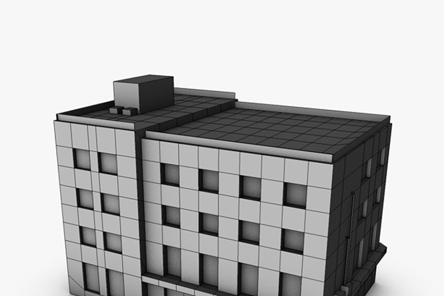 Low poly building in Urban - product preview 4